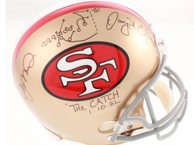 Joe Montana & Dwight Clark Hand Signed '' 1982 C...