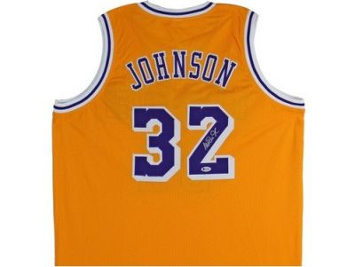 Magic Johnson Hand Signed LA Lakers Jersey