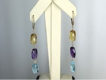MB Gems Bead Stone Multi Color Earrings