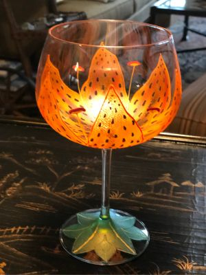 ''Smithereens'' Hand-painted Wine Glasses