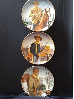 John Wayne Commerative Plates, Limited Edit...