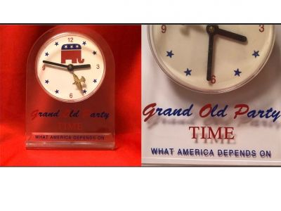 Grand Old Party Clock