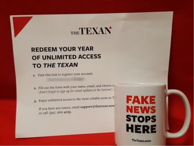 Year Subscription to ''The Texan'' News