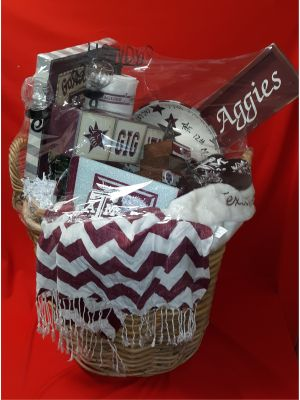 Texas A&M Aggies Fan Merchandise Basket