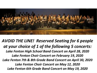 Avoid the Line!! Reserved LF Concert Seating!