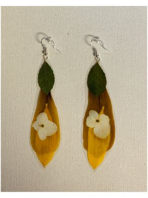 Tortugas Earrings -  Japanese magnolia from...