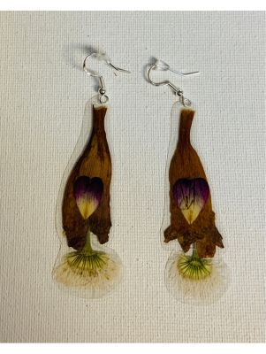 Tortugas Earrings -  Small rose petals and ...