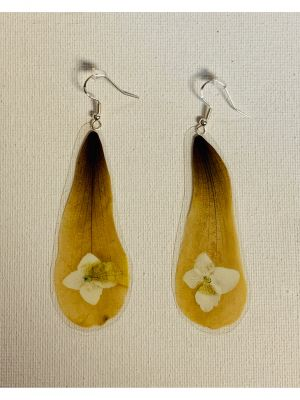 Tortugas Earrings -  Japanese magnolia and ...
