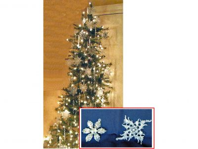 7 Foot Corner Christmas Tree with Ornaments
