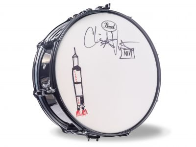 Autographed Snare Drum signed by Chris Vren...