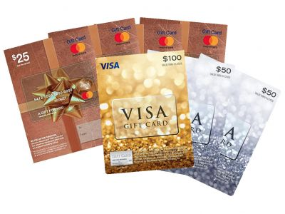 MasterCard and Visa Gift Cards