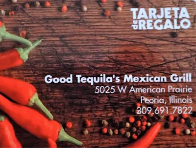 Good Tequila's Mexican Grill $25 gift card