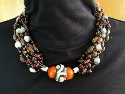Kenyan Mud Bead Necklace-One of a kind!