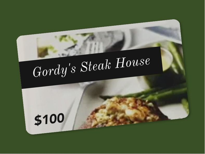 Gordy's Steakhouse $100 Gift Card
