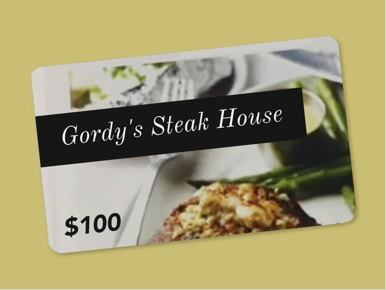 Enjoy a night out at Gordy's Steakhouse!