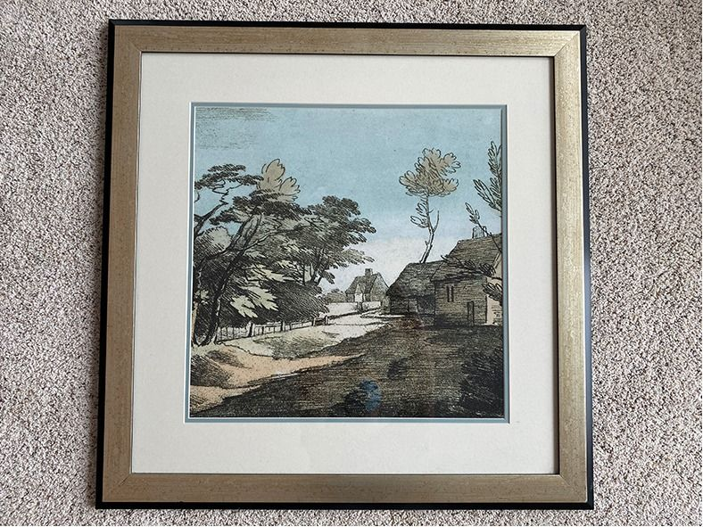 Village Farm Framed Print