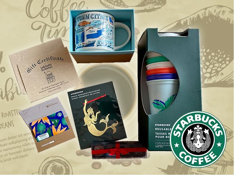 Starbucks with $50 Lake Country BookSellers Gift Car...