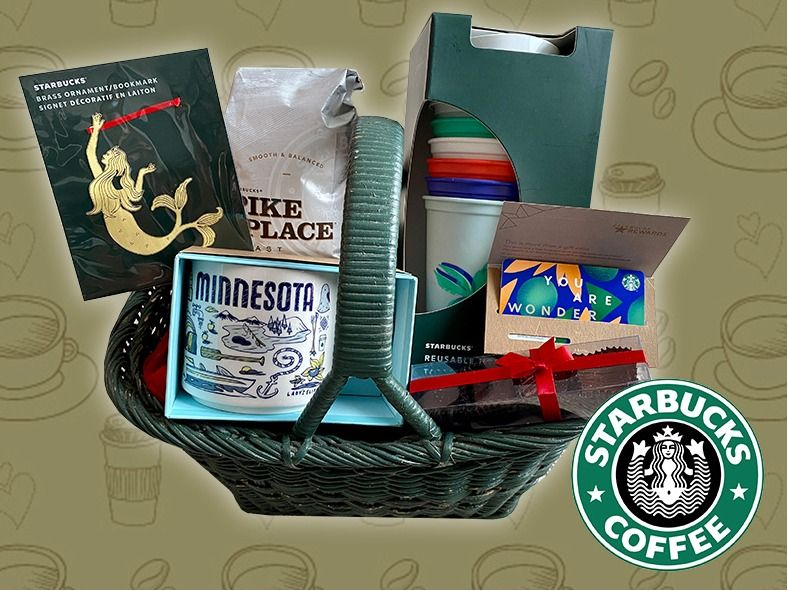 Starbucks Basket - gift card, coffee, cups and more!