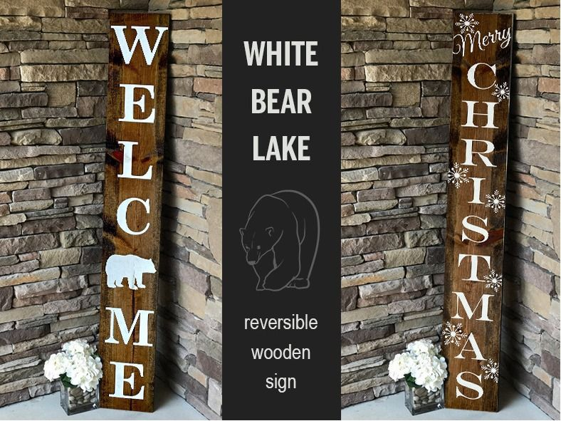 Welcome/Holiday Decorative Wooden Sign