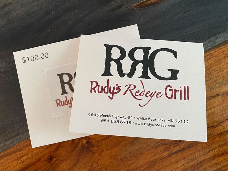 A Night Out At Rudy's Redeye!  $100 Gift Certificate