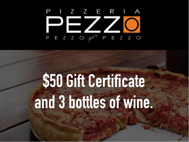 Pizzeria Pezzo Gift Basket with $50 Gift Card
