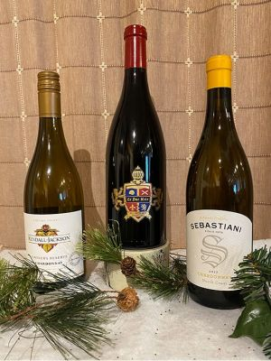 2 Chardonnay and 1 Pinot Noir- Perfect trio...