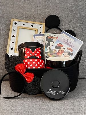 Disney Mickey Mouse Basket with DVD's
