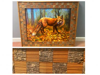Gorgeous Framed Fox Painting by Cindy Inman
