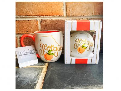 Adorable Georgia Mug and Georgia Christmas Ornament