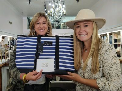 Scout Blue Striped Bag & Gift Card to Ellianos