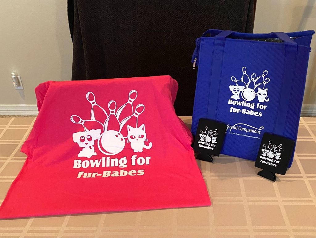 Bowling for fur Babes T Shirt & Insulated Shopping Tote
