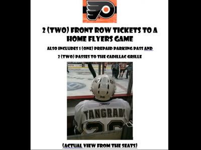 2 Flyers Front Row (On The Glass - behind P...