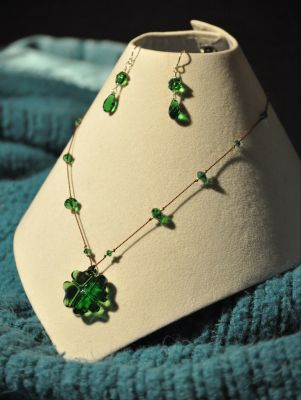 As Luck Would Have It: A Necklace and Earrings Set