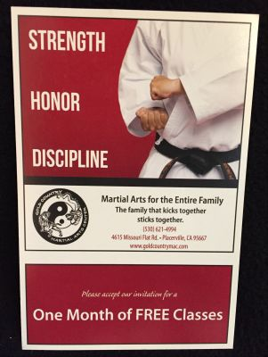 One Month of Martial Arts Lessons at Gold Country Martial Arts Center