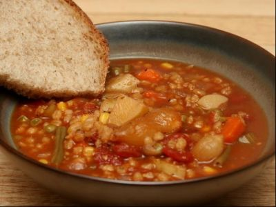 Third Grade Class Project: Soup and Bread Meal