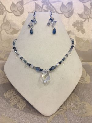 Moonlight Delight: A Necklace and Earrings Set