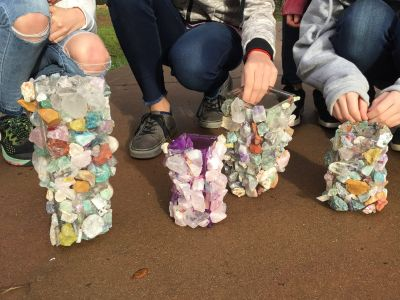Sixth Grade Class Project: Mineral Kingdom Vase - D