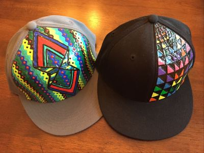 Totally Awesome Geometric Hats for Two