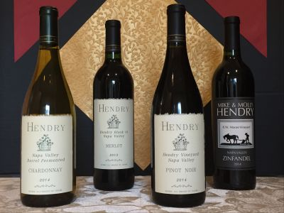 Four Bottles of Hendry Ranch Wine from Napa Valley