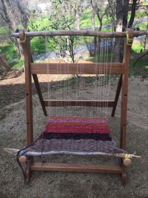 First Grade Class Project: Wood Table Loom and Fiber Weaving