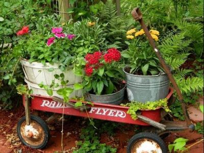 Second Grade Class Project: Red Flyer Wagon with Garden Goodies