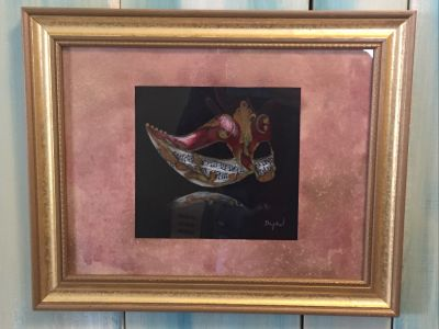 Masquerade: Original Painting by Nory Land