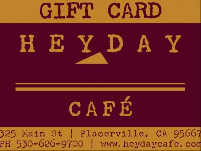 $50 Gift Certificate to Heyday Cafe