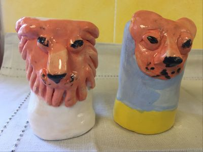 Third Grade Class Project: Ceramic Salt and Pepper Shakers