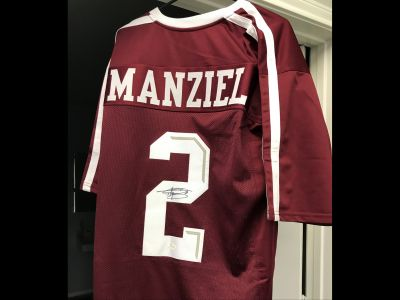 Johnny Manziel Autographed Texas A M Jersey