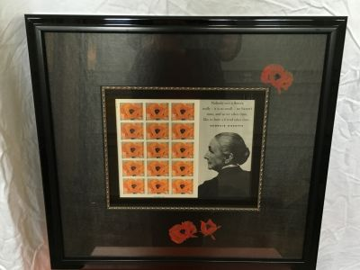 Framed Stamps of Georgia O'Keeffe