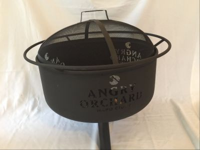 Wine and Outdoor Play Basket + Angry Orchard Steel Fire Pit
