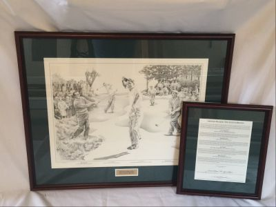 Limited Edition Arnold Palmer Lithograph by Harold Bluestein