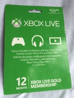 XBox Live - 12 Month Membership