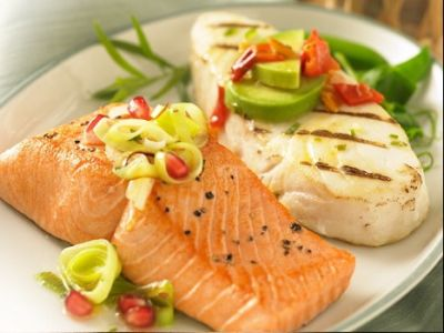 Gourmet Alaska Salmon and Halibut Dinner for 8